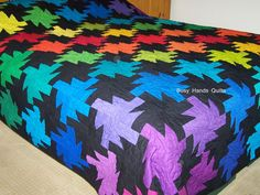 """Busy Hands Quilts: Custom King Size Rainbow Sparkler Quilt This was a custom quilt ordered through my Etsy shop.  It measures 104"""" x 106""""."""