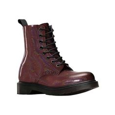 Women's Dr. Martens Pascal 8-Eye Boot - Oxblood Petrol Casual ($120) ❤ liked on Polyvore featuring shoes, boots, casual, casual shoes, slip resistant shoes, dr martens boots, anti slip shoes, bootie shoes and slip resistant boots