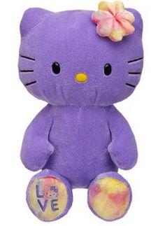 Peluche violeta de Hello Kitty de Build-A-Bear - $41.00