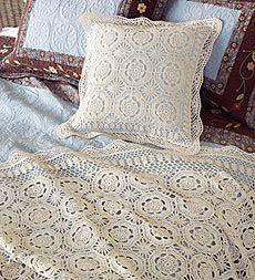 Hooked on crochet: Colcha e almofada em crochê/Crochet throw and cushion case