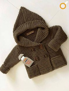 Sesia Items similar to Knit hooded baby coat Baby coat Knit Jacket Merino hoodie Hand Knit hoodie Pea coat 0 - 6 month on Etsy, Ok, I REALLY want oneKnitting Patterns Vest Knitting Hooded Baby Coat Baby Coat Knit by PillandStricken mit Kapuze Baby Ma