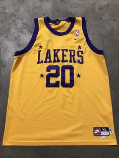 85bc7787230 Vintage Nike Gary Payton Jersey Los Angeles Lakers Throwback Mens XL THE  GLOVE