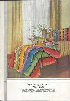 Creme Cobertor do Arco-íris Multicolor Zig Zag -  /   Rainbow Blanket Zig Zag Cream Multicolor  -