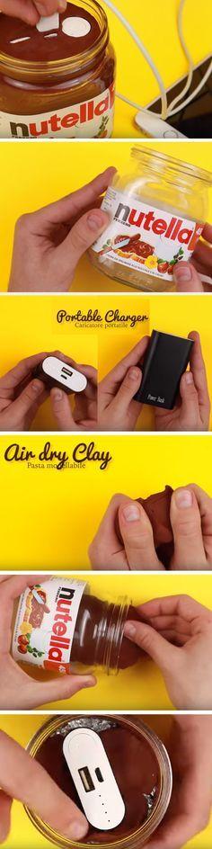 Easy DIY: Nutella Phone Charge #easydiy #easy #diy