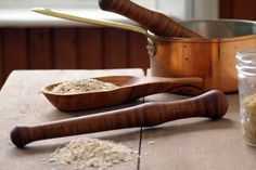 Oatmeal Spurtle Wood Spurtle Kitchen Food by CattailsWoodwork