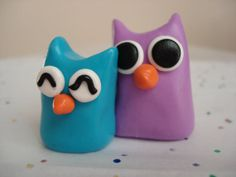 Mother's Day Polymer Clay Owls Mommy and Baby by MagicalMeGifties, $14.99