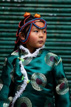 Tibetan girl in a traditional dress