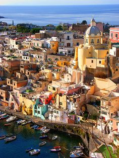 Picturesque village of Corricella in Procida Island, Italy, by hillman54