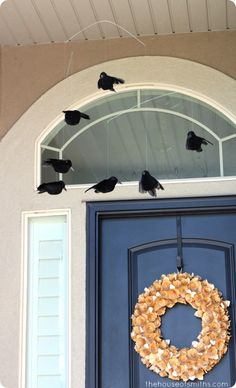 Pottery Barn inspired Circling Crow Halloween Mobile