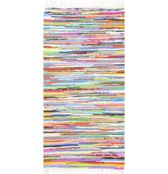 Schon alleine die robuste Verarbeitung aus 100 % Baumwolle spricht für diesen handgewebten Teppich. Dank seiner Größe von ca. 40 x 60 cm ist er universell einsetzbar. Sie können den Fleckerlteppich praktischerweise leicht reinigen und beidseitig verwenden. Funktional und ein echter Hingucker - dieser Teppich wird Ihrem Boden schmeicheln!