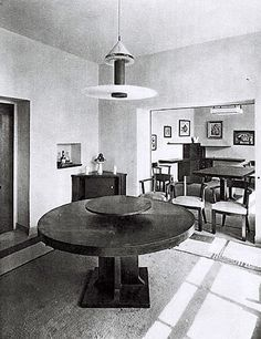 Dining room, Villa Noailles. Photograph by Man Ray