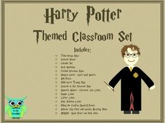 Classroom Decoration and Organization Set: Harry Potter Theme