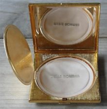 VINTAGE MERLE NORMAN GOLD COMPACT MADE IN GERMANY MID CENTURY