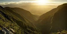 Looking down the valley from Takaka Hill, New Zealand
