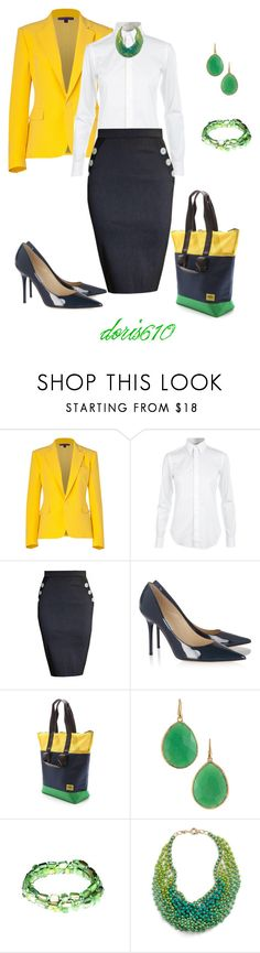 """""""Classic"""" by doris610 ❤ liked on Polyvore featuring Ralph Lauren Collection, Ralph Lauren, Tara Starlet, Jimmy Choo, Dubbel Duffel, Stella & Dot and And Mary"""