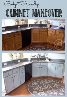 A super easy and cost effective way to breath life into old cabinets that have seen better days.