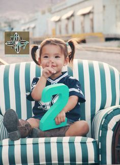 two year old pictures, love the couch and number. So cute