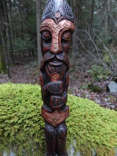 TOTEM TO THE VIKINGS....THEY LIVED IN THE WOODS AND HONORED THEIR OWN...LOVE THE WORKMANSHIP!