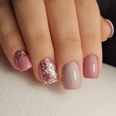 festival nails — brilliant nails, Colorful nails, Everyday nails, Festive nails, Glitter nails id… Fancy Nails, Trendy Nails, Pink Nails, Cute Nails, Glitter Nails, Pink Manicure, Gel Toe Nails, Gel Toes, November Nails