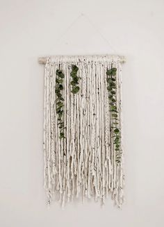 Poppytalk: Yarn and Eucalyptus Wall Hanging:                                                                                                                                                      More
