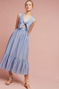 Shoshanna Kayla Tie-Front Midi Dress