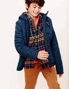 Quilted Anorak 85036 Coats at Boden