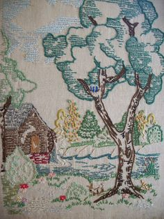Hayfield Cottage: embroidery
