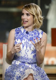 Emma Roberts on The Today Show in Marchesa Notte Fall 2014