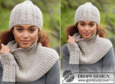 Комплект «Winter Wired» - шапка, снуд и митенки спицами
