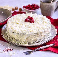 Gâteau Edelweiss, framboise et chocolat blanc #gateau #pâtisserie #recette