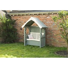 buy rowlinson windsor arbour with cushion box online at johnlewiscom - Garden Sheds John Lewis