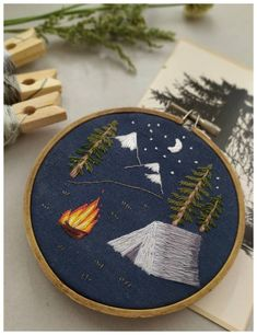night fire forest embroidery,embroidery hoop What's embroidery ? Generally speaking, embroidery is just a specific technique of textile running, in which provider products such as. Hand Embroidery Videos, Simple Embroidery, Hand Embroidery Stitches, Learn Embroidery, Embroidery Hoop Art, Hand Embroidery Designs, Embroidery Techniques, Cross Stitch Embroidery, Hungarian Embroidery