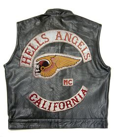 """""""Are those Bad Idea jeans you're wearing?""""   Vest Embroidered Logo Hells Angels Motorcycle Club Mongols Size L to 4 XL 