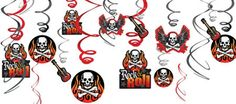 Rock On Swirl Decorations 12ct - Party City