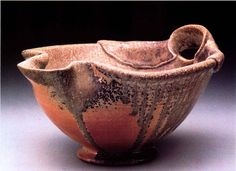 This batter bowl was created by Ben Krupka. Ben Krupka was a 2003 Ceramics Monthly Emerging Artist.