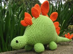 Ravelry: hello stegosaurus pattern by The Button Ship