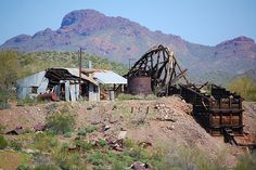 The Main Shaft of the Abandoned Vulture Mine. There is still gold waiting to be mined here.