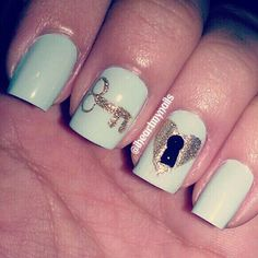 THE KEY TO MY HEART NAILS