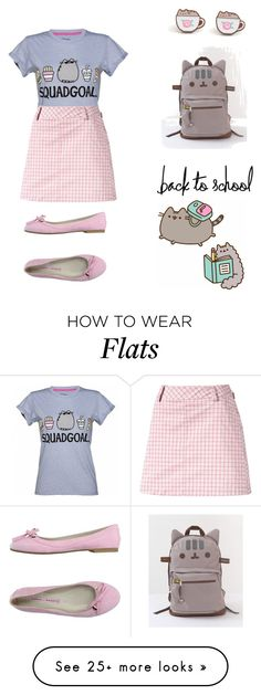 """#PVxPusheen"" by jemmelo on Polyvore featuring Pusheen, Puma, Norma J.Baker, contestentry and PVxPusheen"