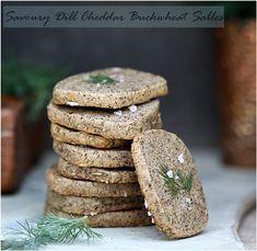 Savoury Dill Cheddar Buckwheat Sables #baketogether