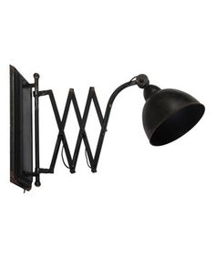 Loving this Black Iron Retractable Wall Lamp on #zulily! #zulilyfinds
