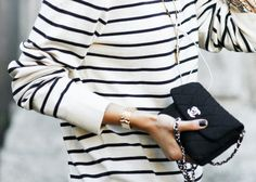 French cool #Breton #stripes #Chanel