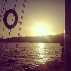 Sunset on the gulet Günay 1 / Sailing Gocek Turkey