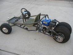 My brother built a go-cart simular to this, and would ride us in the big field.