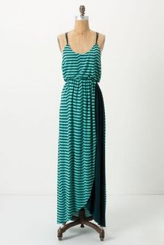Striated Slub Maxi Dress / Antropologie #dress #summer {I wish this came in other colors...}