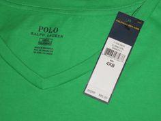NEW MEN'S POLO RALPH  LAUREN 4XB  T - SHIRT  BIG & TALL  GREEN $85 TAG #PoloRalphLauren #BasicTee