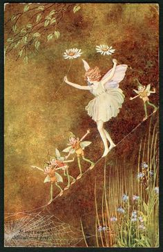 ≍ Nature's Fairy Nymphs ≍ magical elves, sprites, pixies and winged woodland faeries - Ida Rentoul Outhwaite - Fairies