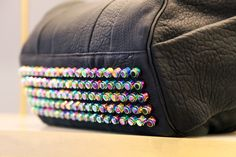 New in-store Alexander Wangs Rocco in bag with iridescent studs Liberty.co.uk