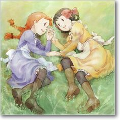 akage no anne Book Illustration, Watercolor Illustration, Anne Auf Green Gables, Anime Muslim, Anne Shirley, Old Anime, Cad Drawing, Le Far West, Anime Art Girl