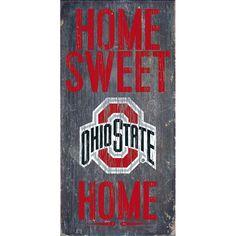 Ohio State Buckeyes Sweet Home Wall Art, Multicolor